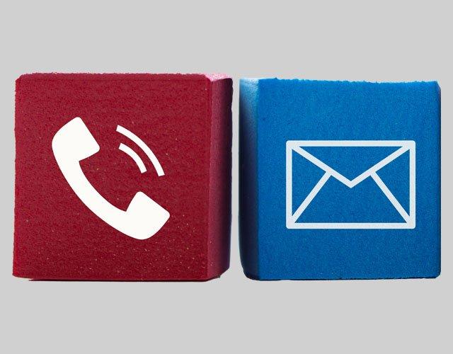 Kontakt per Telefon und Brief